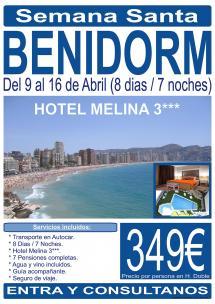 Benidorm - Semana Santa - 9 al 16 de Abril - 8 Días