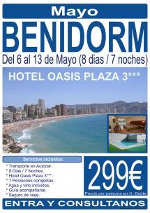 Benidorm - 06 al 13 de Mayo - 8 Días