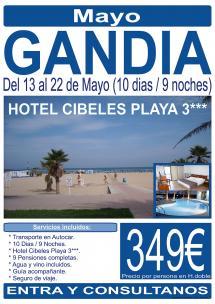 Gandia - 13 al 22 de Mayo - 10 Días
