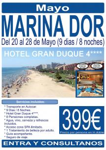 Marina d'Or - 20 al 28 de Mayo - 9 Días