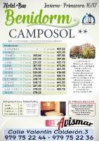 Oferta Benidorm - Hotel y autocar - Hotel Camposol hasta Junio