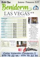 Oferta Benidorm - Hotel y autocar - Hotel Las Vegas hasta Junio