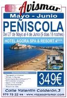 Oferta Viaje a Peñiscola - Mayo - Junio - 9 días