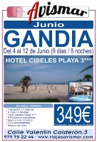 Viaje a Gandía en Junio - Hotel Cibeles Playa - 9 días